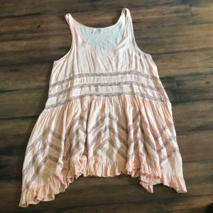 Free people pink Sz small trapeze tunic